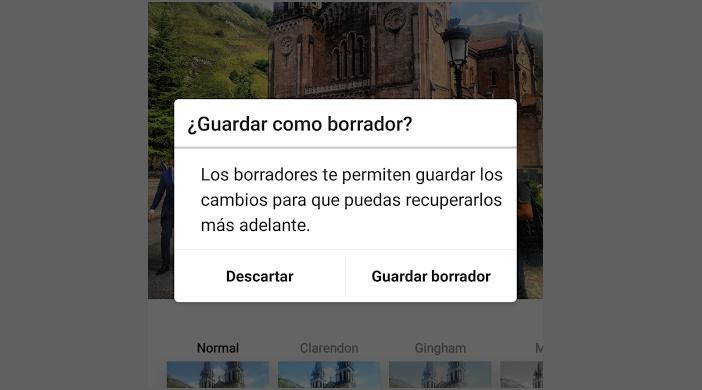 ¿Cómo usar la nueva función de borrador en Instagram?